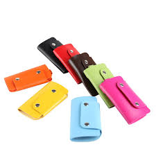 details about faux leather key holder case key rings chains key organizer wallet pouch bag 1pc
