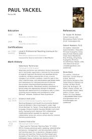 Veterinary Resume Samples Visualcv Resume Samples Database