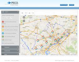 peco launches new storm center  power outage map  kubra