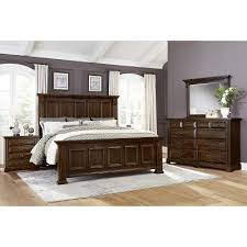 Bedroom Sets Woodlands BB98 7 pc King Mansion Bedroom Set at High ...