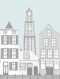 Kinderbehang Utrecht Met Domtoren En Oude Gracht