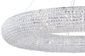elegant lighting 2114g59c rc chrome paris 24 light 59 wide crystal halo chandelier lightingshowplace com