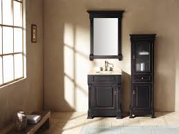 elegant black wooden bathroom cabinet. Bathroom Cabinets Cream Wall Paint Mirror With Black Wooden Frame Real Wood Small Vanity Storage Elegant Cabinet S