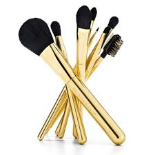 full makeup brush set. personalised full makeup brush set, 24ct gold plated set