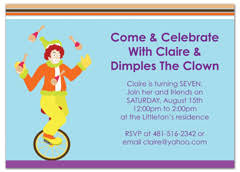 Download Kids Boy Girl Printable MS Word Birthday Invitation ... Children Magic Clown Show Birthday Invitation Wording