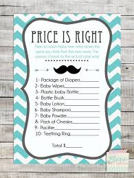 The Baby Shower Price Is Right Game Can Spice Up The Fun At Any Free Printable Mustache Baby Shower Games