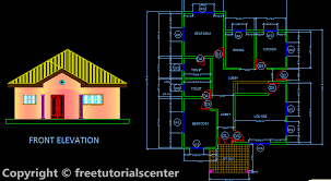 Two Bed Room House Design  Plan   Section and Front Elevation    Two Bed Room House Design  Plan   Section and Front Elevation it is small house plan design but has the very nice architectural shape the file is compatible