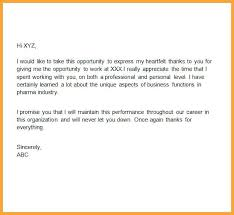 Thanks Letter Boss For Giving Opportunity Powerful Appreciation