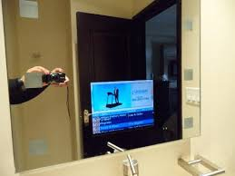 TV in the bathroom mirror Picture of Copper Point Resort