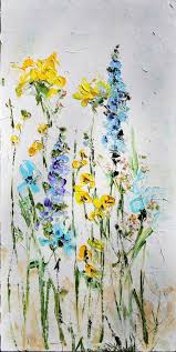 palette knife painting oil painting original abstract flowers on canvas deco painting order abstract flower painting art english garden