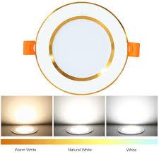 Bộ 12 Đèn LED Tròn Gắn Trần Nhà Trang Trí Nhiều Màu Sắc AC 220V 5W - Đèn  trần