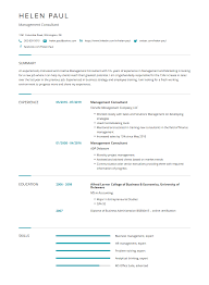 Management Consultant Resume Examples Templates Complete