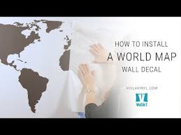 how to install a world map wall decal