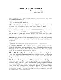 Business Partnership Agreement In Pdf Partnership Contracts Template With 24 Best Images Of Sample 15