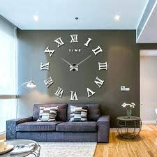 chrome wall decor clocks wall decor clock inch wall clock large silver wall clock in living