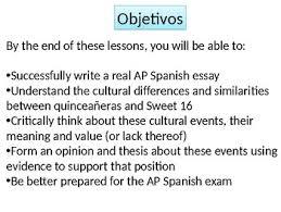 ap spanish spanish quinceanera essay tpt ap spanish spanish 3 4 quinceanera essay