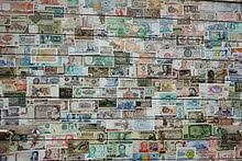 banknote  paper money from different countries