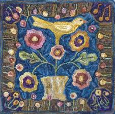 rug designs and patterns. Free Rug Hooking Patterns Fresh Song Of The Yellow Bird By Lin Wells Pattern Designs And