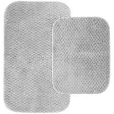 cabernet platinum gray 21 in x 34 in washable bathroom 2 piece rug