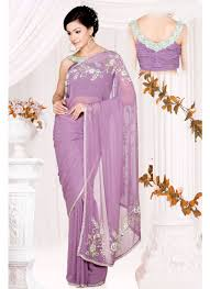 Light Purple Color Saree Light Purple Saree Google Search Saree Blouse Designs