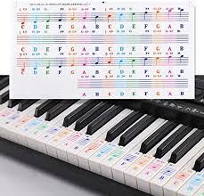 Beschrifte deine klaviatur, um leicht noten lernen zu können schritt 6: Klavier Keyboard Noten Aufkleber Klaviertasten Aufkleber Fur Weisse Tasten 25 49 61 76 88 Tastatur Piano Keyboard Notes Stickers Klavier Tastatur Zubehor Fur Kinder Anfanger Klavier Lernen Amazon De Musikinstrumente