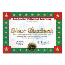 Star Student Certificates Star Student Award Certificates