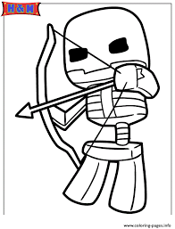 Small Picture minecraft skeleton shooting bow and arrow Coloring pages Printable