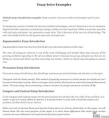 Essays Introduction Examples How To Start An Essay A Step By Step Guide By Kingessays