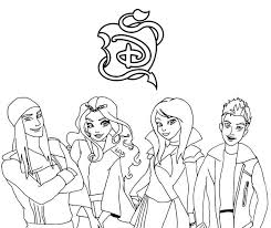 Characters From Descendants Coloring Pages Printable Get Coloring Page