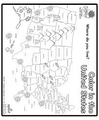 Small Picture Print and Color US Map Coloring Page Social Studies Pinterest