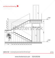 architectural drawings. Interesting Architectural Architectural Drawings Stairs On Architectural Drawings