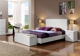 Made in Spain Leather Luxury Bedroom Furniture Sets feat Light