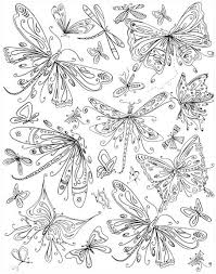 Small Picture Butterflies Dragonflies Coloring Page embroidery pattern