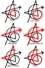 Avengers Tattoo Marvel татуировка мстителей марвел и марвел