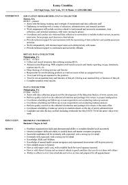 Collector Resume Examples Data Collector Resume Samples Velvet Jobs 23