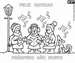 Small Picture Christmas Coloring Pages Spanish Coloring Pages