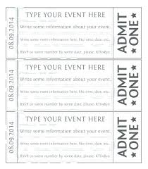 Template For Raffle Tickets To Print Free Ticket Printing Template Stingerworld Co