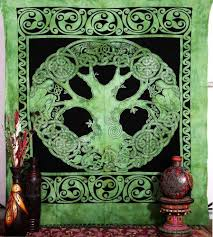 celtic tree of life tapestry wall hanging throw indian