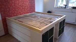Queen Sizd Loft Bed With Storage Trends Ikea Platform Images