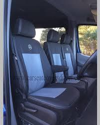 mercedes sprinter 2nd gen black grey seat covers