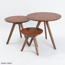 beautiful looking small wood side table trio round coffee modern apartment simple and stylish oak a few tables in from s