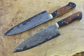 The First Kitchen Knife Featuring Our New Damascus Steel  KnivesDamascus Kitchen Knives