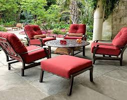 Red Color Cushions For Outdoor Furniture lawn furniture cushions