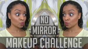 hey you guysss so here is my no mirror makeup challenge