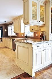 kitchen floor tiles with light cabinets. Plain Cabinets Traditional Antique White Kitchen Cabinets  Brown Wall Color Cabinet  And Under Counter Lighting Floor Tile  Ideas For The House Pinterest Brown  Inside Floor Tiles With Light N