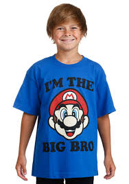 Mario I\u0027m the Big Bro Youth T-Shirt