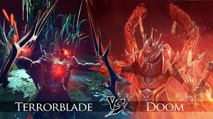 dota 2 terrorblade vs doom bringer one click battle youtube