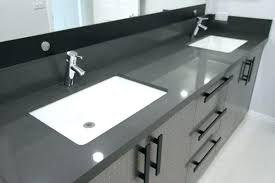one piece stainless steel sink and countertop full size of double sink bathroom home depot combination