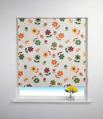 Patterned Blinds For Kitchen Flower Roller Blind Ebay