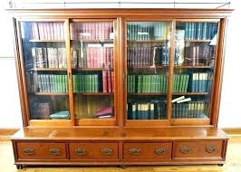 bookcase with sliding glass doors door large antique costco bookcase with sliding glass doors door large antique costco